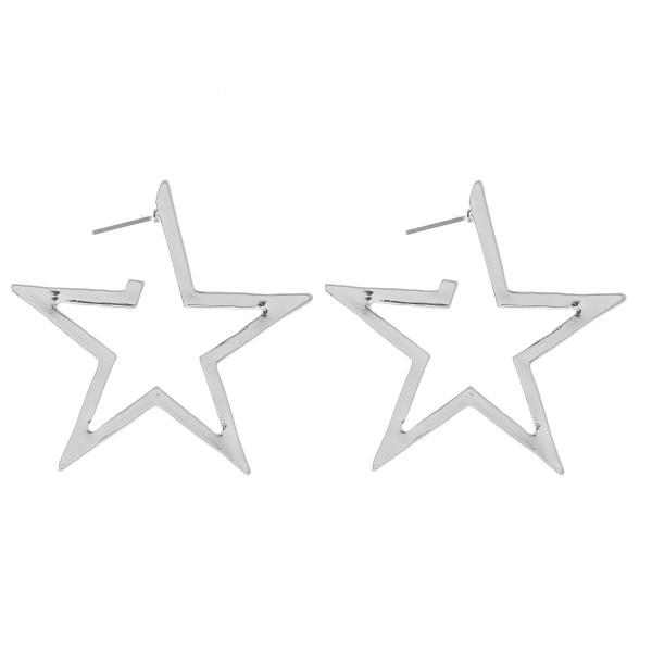 Wholesale flat Star Hoop Earrings