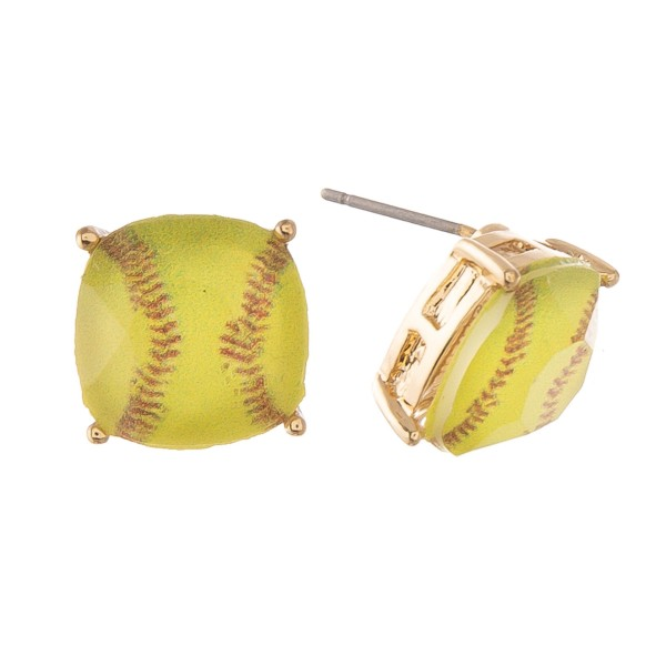 Wholesale crystal Softball Stud Earrings mm