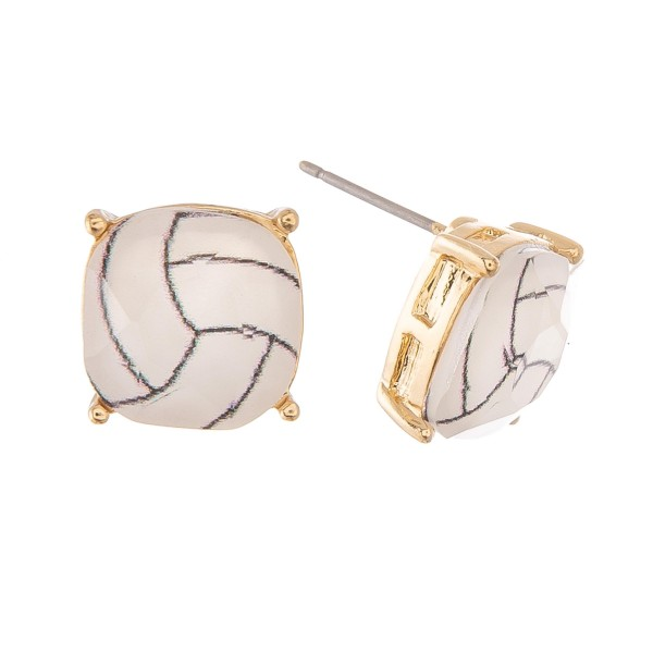 Wholesale crystal Volleyball Stud Earrings mm
