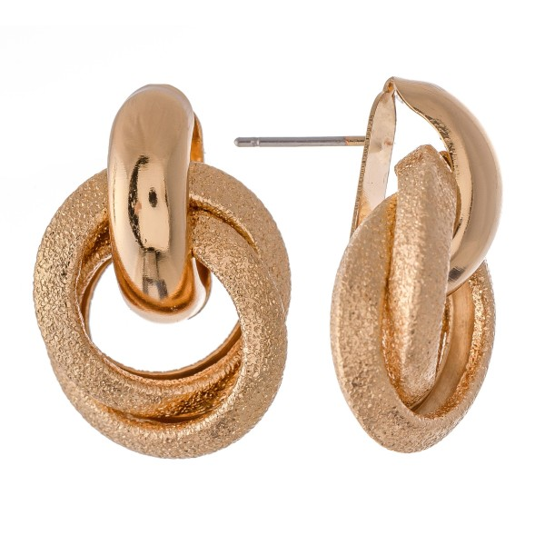 """Textured Knot Stud Earrings.  - Approximately 1"""""""