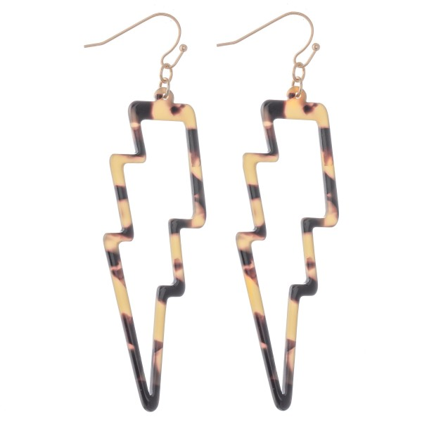 Wholesale resin Statement Lightning Bolt Drop Earrings L