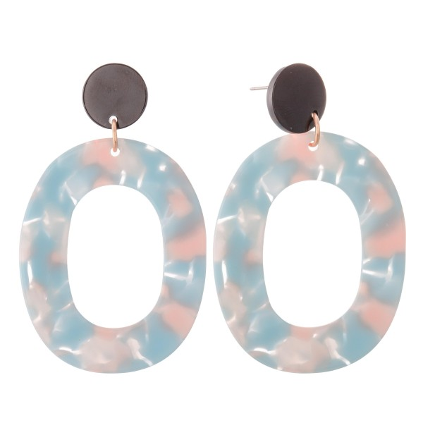 Wholesale resin Ring Drop Earrings L