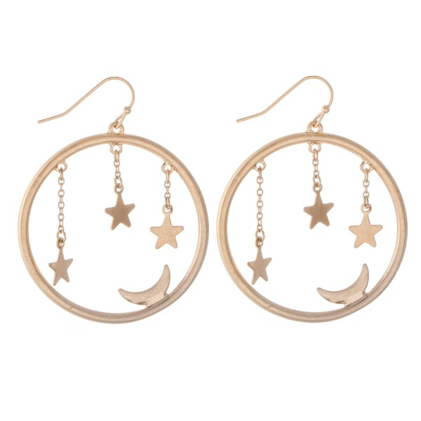 Wholesale star Dangle Moon Drop Earrings Diameter