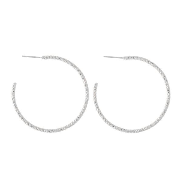 Wholesale diamond Cut Textured Hoop Earrings Diameter