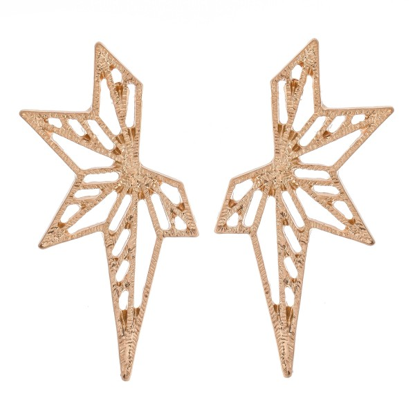 Starburst Filigree Cut Stud Earrings.  - Approximately 1.5""