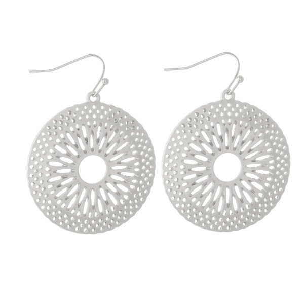 Wholesale sunburst Boho Drop Earrings Matte Finish Diameter