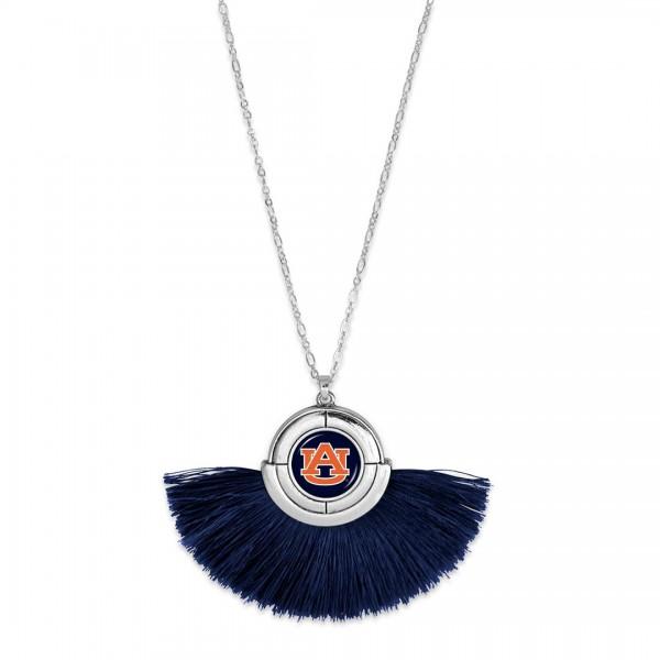 Wholesale auburn Game Day Tassel Pendant Necklace Pendant approx L T L Adjustabl