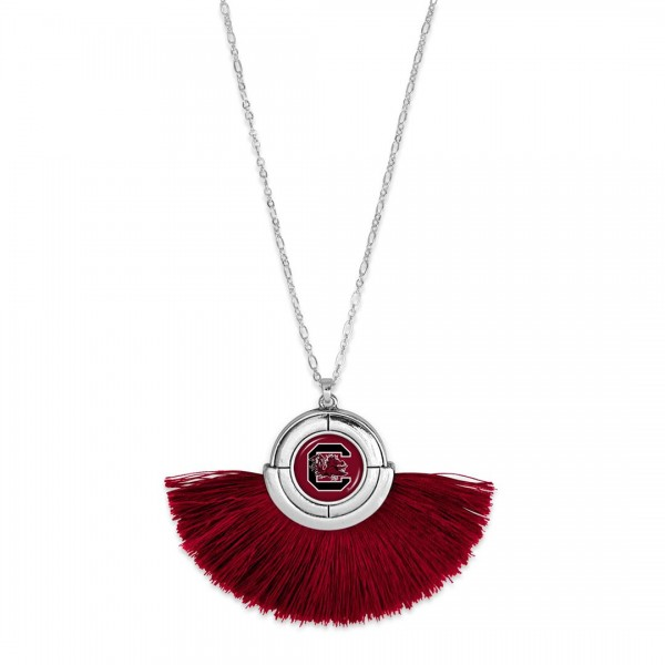 Wholesale university South Carolina Game Day Tassel Pendant Necklace Pendant app