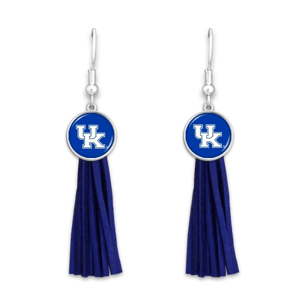 Wholesale kentucky Tassel Game Day Drop Earrings L