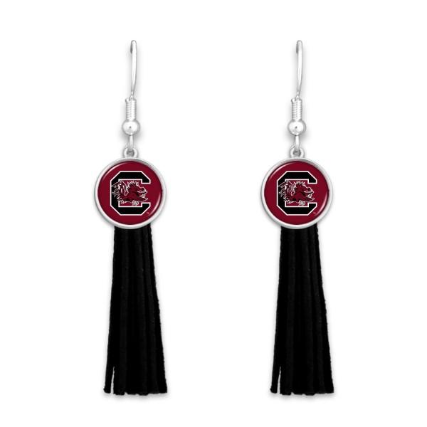 Wholesale university South Carolina Tassel Game Day Drop Earrings L