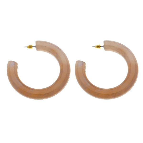 Acrylic Hoop Earrings.  - Hoop Thickness 8mm - Hoop Diameter 2""