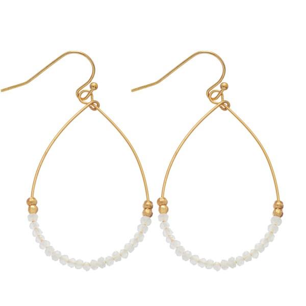 Wholesale dainty Wire Beaded Teardrop Earrings