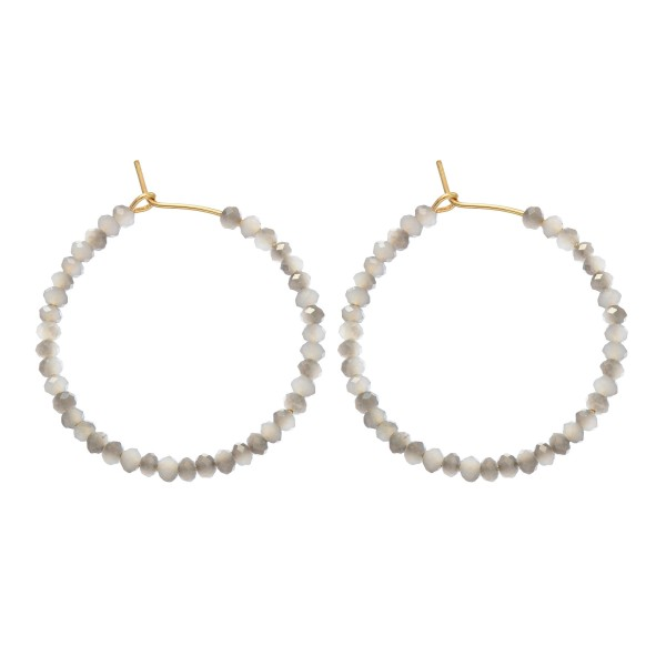 Wholesale short Beaded Hoop Earrings Diameter