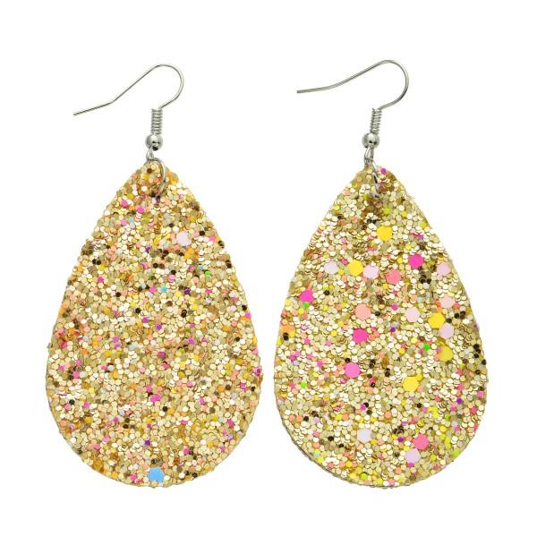 """Glitter Teardrop Earrings.  - Approximately 3"""" in Length"""