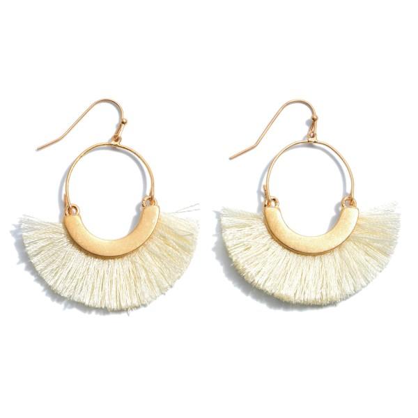 """Fringe Tassel Drop Earrings in Gold.  - Approximately 2"""" in Length"""