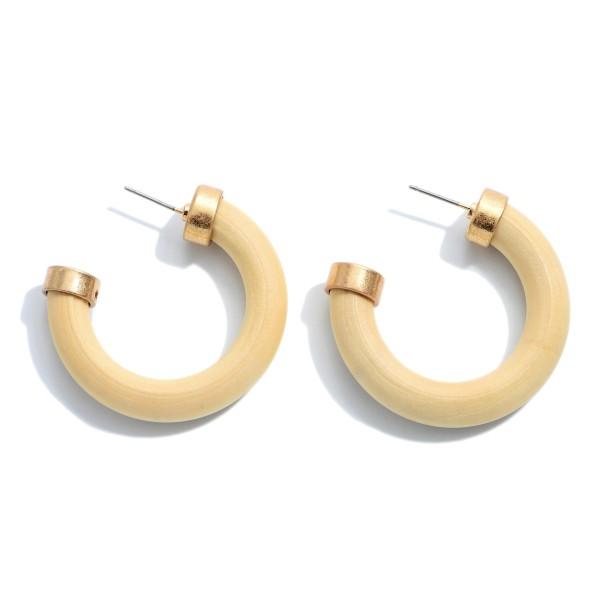 Wholesale thick Wooden Hoop Earrings Diameter Hoop Thickness mm