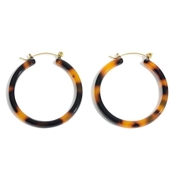 Wholesale acrylic Resin Hoop Earrings Diameter