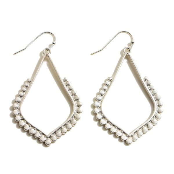 "Metal Dotted Moroccan Teardrop Earrings.  - Approximately 2"" in Length"