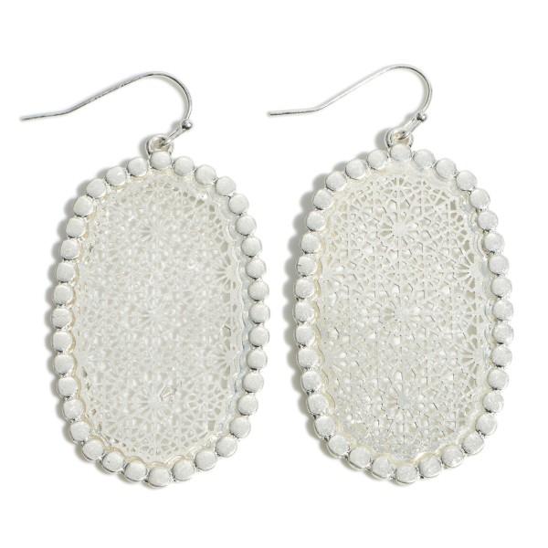"Metal Filigree Drop Earrings.  - Approximately 2"" in Length"