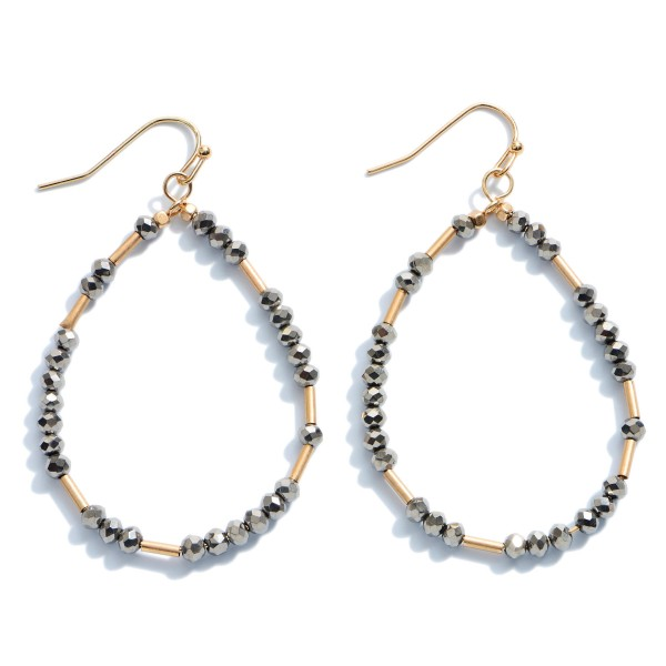 Wholesale beaded Teardrop Earrings Gold