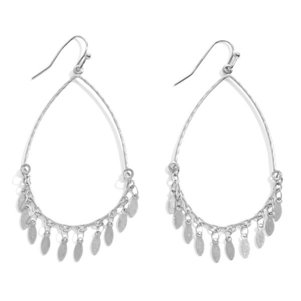 Wholesale metal Teardrop Earrings Tassel Accents