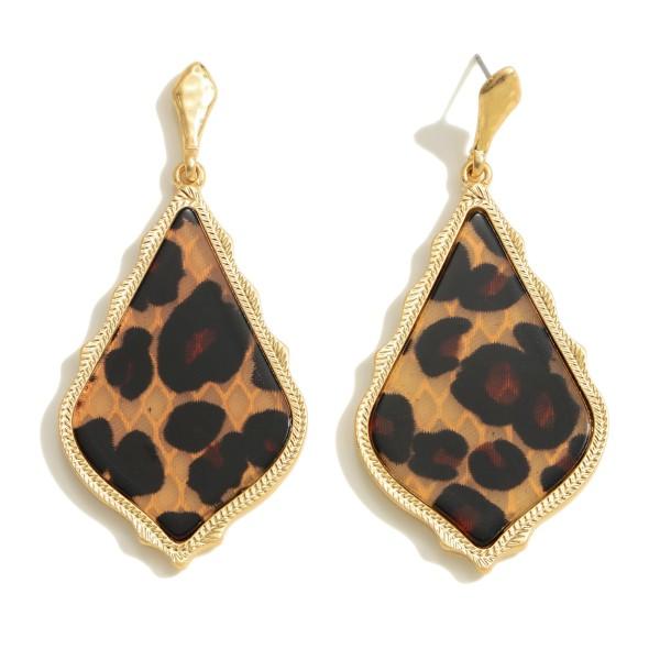 """Glass Stone Moroccan Teardrop Earrings.  - Approximately 2.5"""" in Length"""