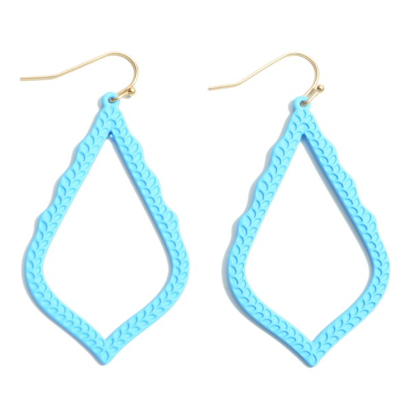 """Color Coated Moroccan Teardrop Earrings.  - Approximately 2.5"""" in Length"""