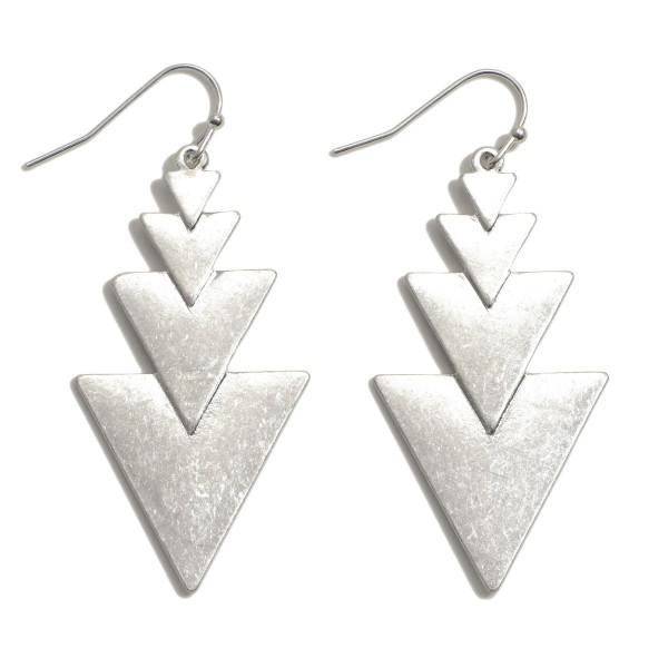 """Geo Arrow Drop Earrings.  - Approximately 2"""" in Length"""