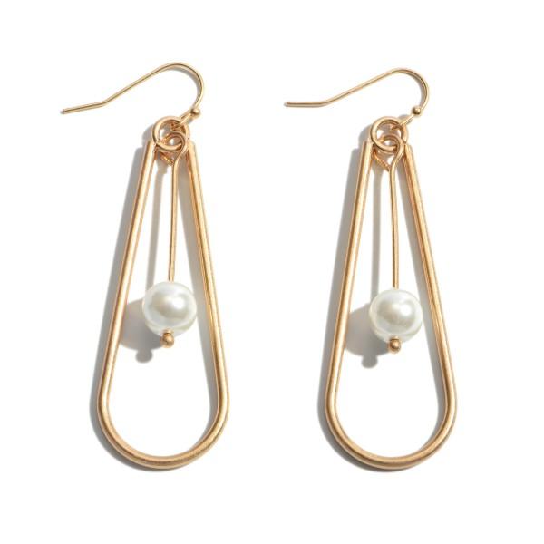 Wholesale pearl Nested Teardrop Earrings