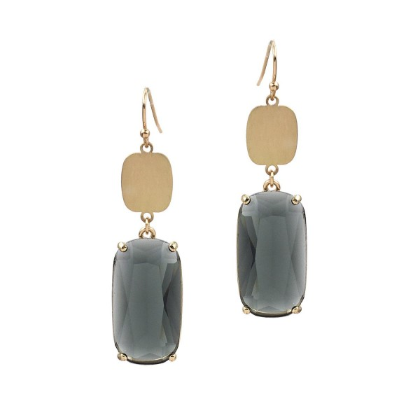 """Gold Drop Earrings Featuring Crystal Accents.   - Approximately 2"""" Long"""