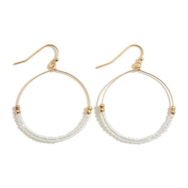 "Circular Beaded Earrings.   - Approximately 1.5"" in Diameter"