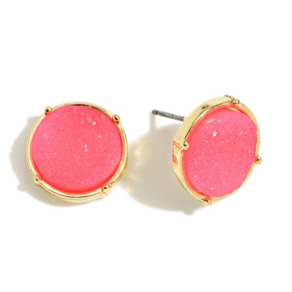 Wholesale round Druzy Stud Earrings mm Diameter