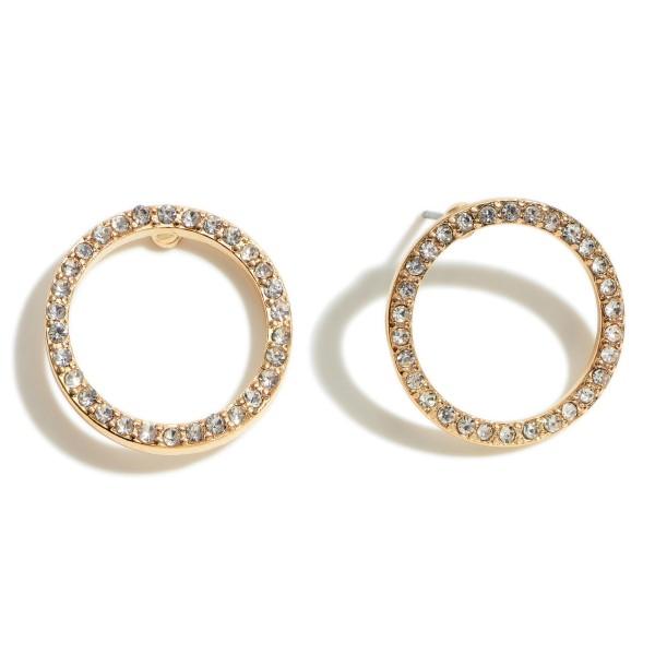 Wholesale round Rhinestone Stud Earrings mm Diameter