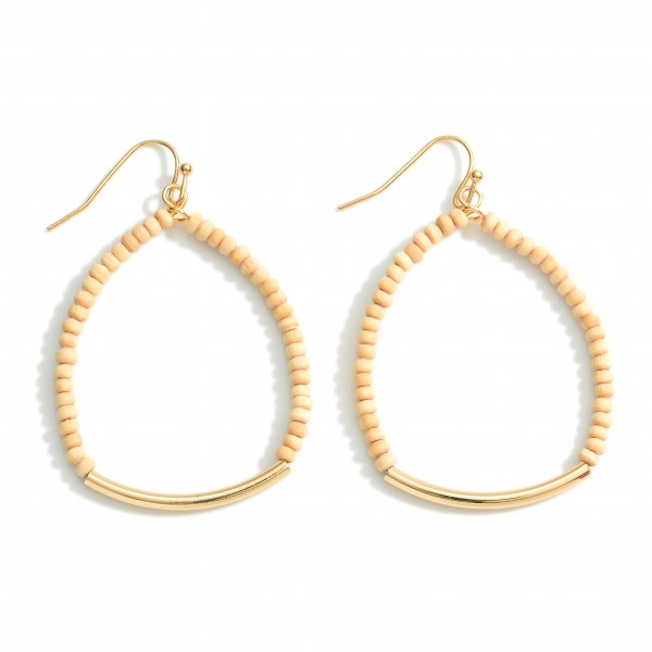 """Beaded Earrings Featuring Gold Details.   - Approximately 2"""" Long"""