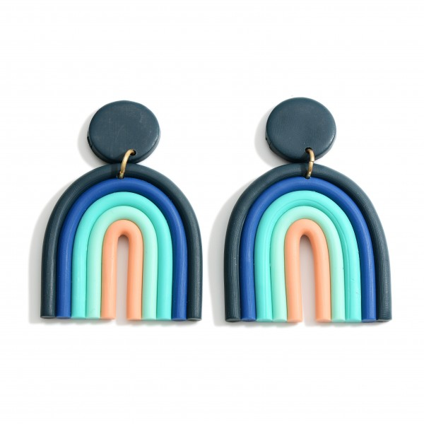 Wholesale multicolor Rainbow Drop Earrings Long