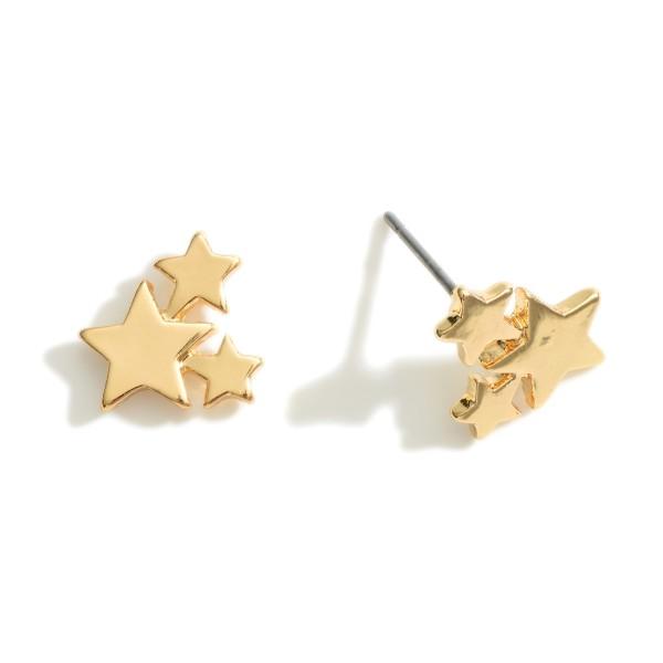"Star Stud Earrings.   - Approximately 1/2"" Long"