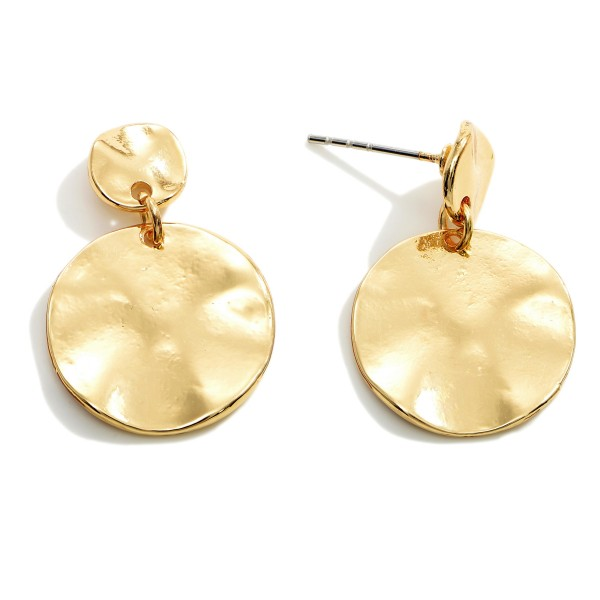 """Hammered Drop Earrings.   - Approximately 1"""" in Diameter"""