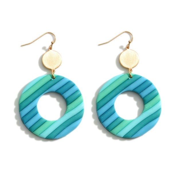 Wholesale multi Colored Clay Polymer Drop Earrings Long