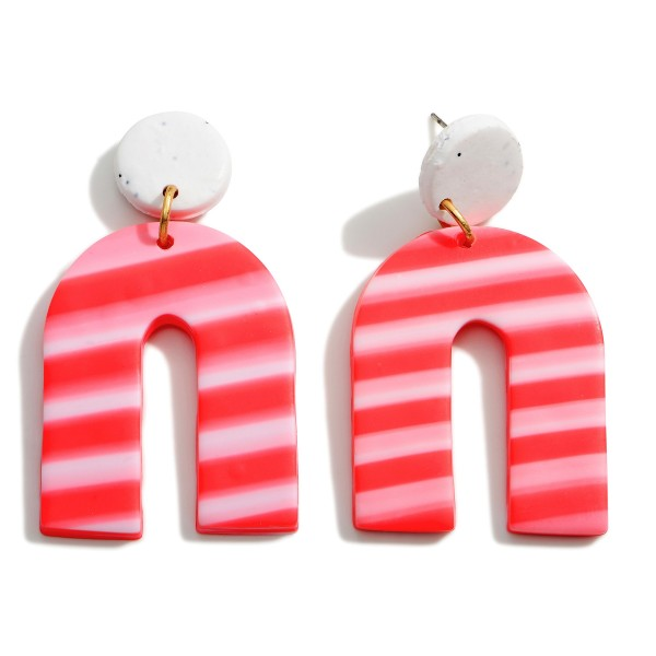 """Clay Polymer Drop Earrings.   - Approximately 2.25"""" Long"""