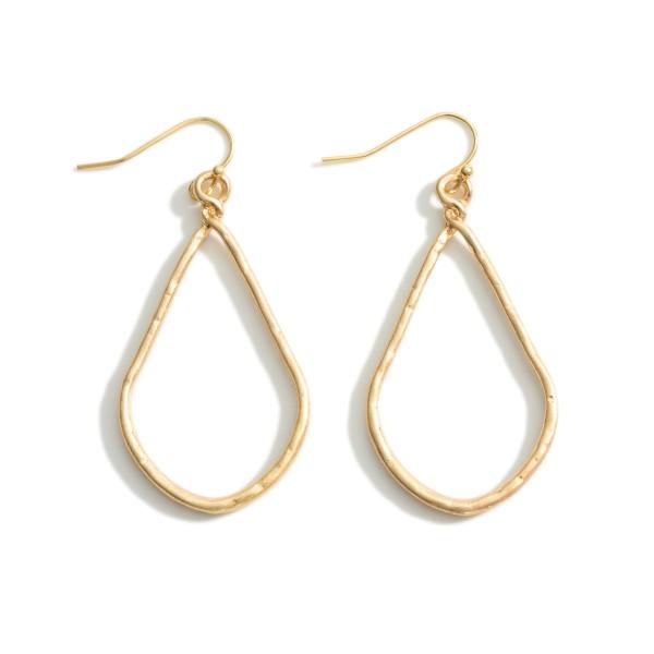 """Gold Teardrop Earrings.  - Approximately 2.25"""" in Length"""