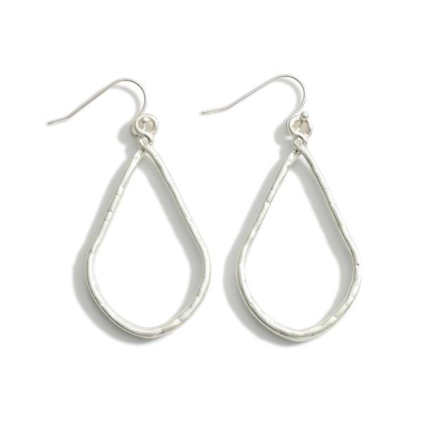 """Silver Teardrop Earrings.  - Approximately 2.25"""" in Length"""