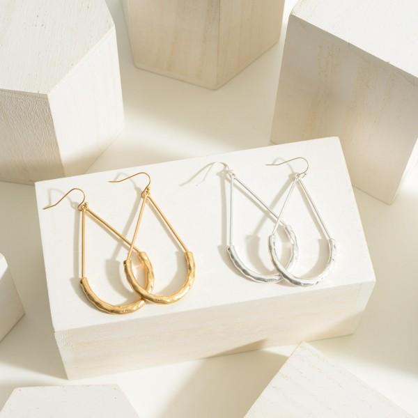 """Gold Teardrop Earrings.   - Approximately 3"""" in Length"""