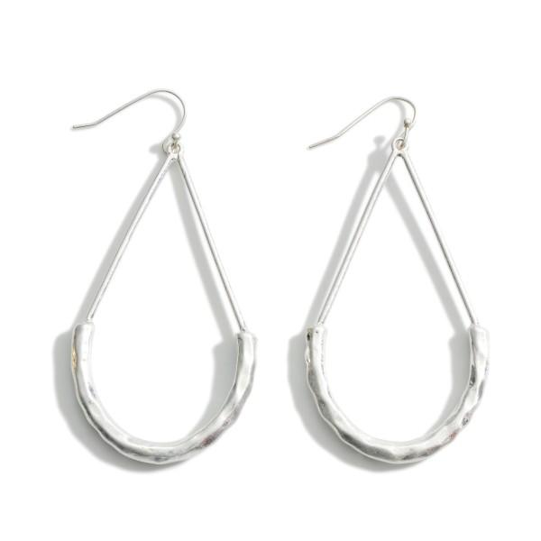"""Silver Teardrop Earrings.   - Approximately 3"""" in Length"""