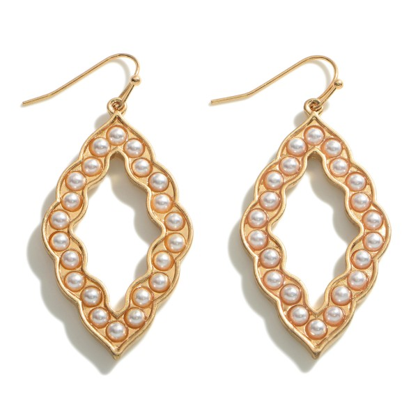 """Drop Earrings Featuring Natural Stone Beads.   - Approximately 2"""" Long"""