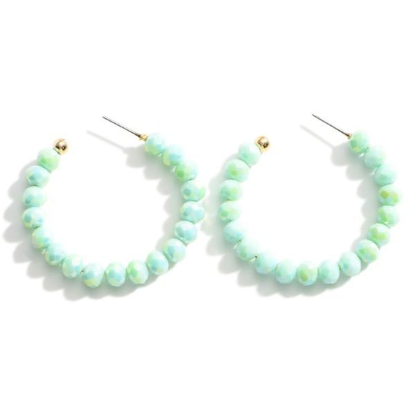 Wholesale beaded Hoop Earrings Long
