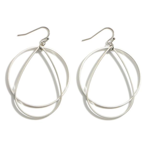 "Metal Drop Earrings.   - Approximately 2.5"" Long"