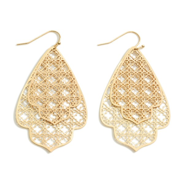 """Moroccan Filigree Drop Earrings.  - Approximately 2.5"""" in Length"""