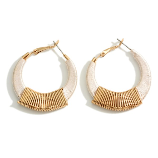 """Hoop Earrings Featuring Gold Accents.   - Approximately 1.5"""" Long"""