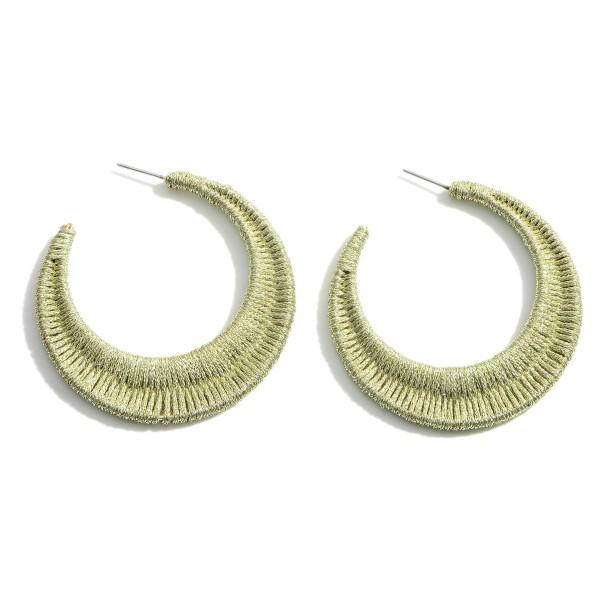 Wholesale woven Hoop Earrings Diameter
