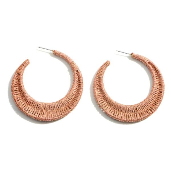 "Woven Hoop Earrings.   - Approximately 2"" in Diameter"
